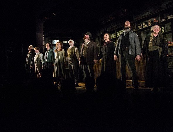 <p>The cast of <em>The Cripple of Inishmaan</em> takes the opening-day curtain call.</p><br />(© David Gordon)