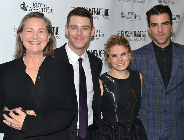 <p>The cast of <em>The Glass Menagerie</em>: Cherry Jones, Brian J. Smith, Celia Keenan-Bolger, and Zachary Quinto.</p><br />(© David Gordon)