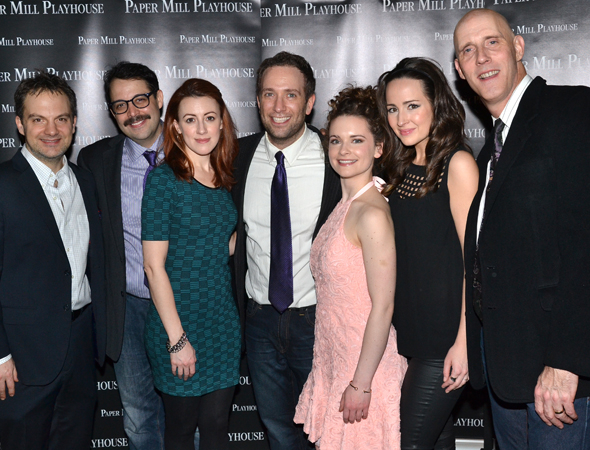 <p>The cast of <em>The Other Josh Cohen</em>: Vadim Feichtner, Steve Rosen, Kate Wetherhead, David Rossmer, Cathryn Salamone, Hannah Elless, and Ken Triwush.</p><br />(© David Gordon)