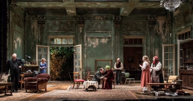<p>The cast of <em>Uncle Vanya</em>, directed by, at Goodman Theatre.</p><br />(© Liz Lauren)