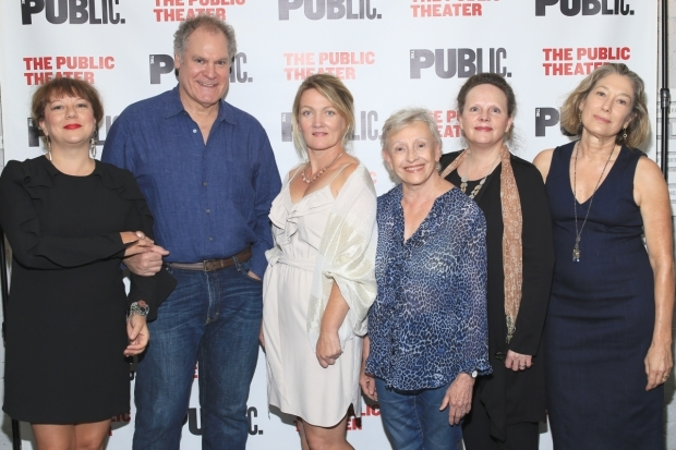 <p>The cast of <em>What Did You Expect?</em>: Amy Warren, Jay O. Sanders, Lynn Hawley, Roberta Maxwell, Maryann Plunkett, and Meg Gibson.</p><br />(© Tricia Baron)