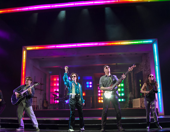 <p>The cast rocks out on the Paper Mill stage.</p><br />(© Jerry Dalia)