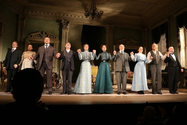 <p>The cast takes a bow at curtain call.</p><br />(© Tricia Baron)