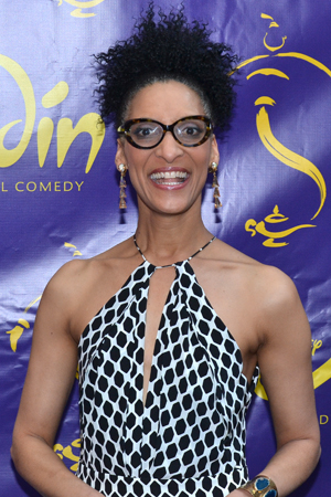 <p><em>The Chew</em> host Carla Hall is ready for <em>Aladdin</em>.</p><br />(© David Gordon)