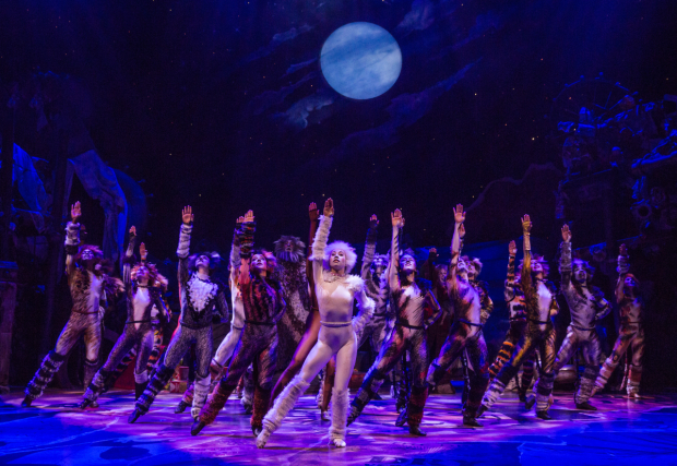 <p>The company of <em>Cats</em> take the stage at the Neil Simon Theatre.</p><br />(&copy&#x3B; Matthew Murphy)