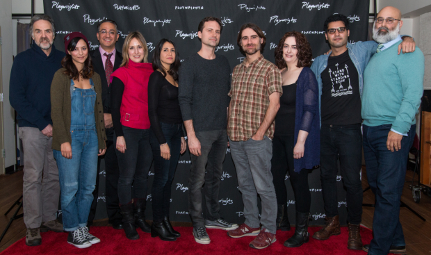 <p>The company of Playwrights Horizons&#39&#x3B; production of <em>The Profane</em>.</p><br />(© Rochelle Torres)