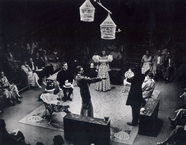 <p>The company of the 1951 production of <em>The Importance of Being Earnest</em>, directed by Zelda Fichandler, at Arena Stage.</p><br />(photo courtesy of Arena Stage)