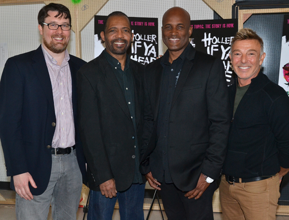<p>The creative team: book writer Todd Kreidler, musical supervisor Daryl Waters, director Kenny Leon, and choreographer Wayne Cilento.</p><br />(© David Gordon)