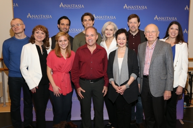 <p>The creative team poses with members of the cast.</p><br />(© Tricia Baron)