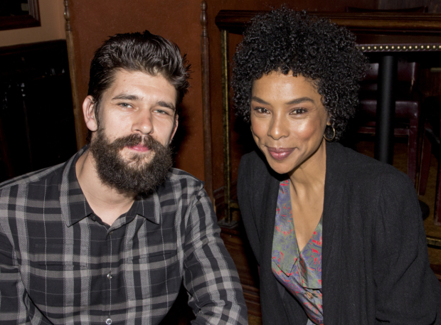 <p><em>The Crucible</em> stars Ben Whishaw and Sophie Okonedo accepted a special citation on behalf of their director, Ivo van Hove, and designer, Jan Versweyveld.</p><br />(© David Gordon)