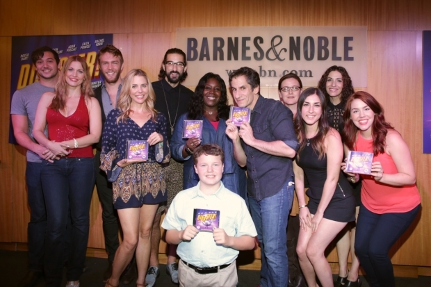 <p>The <em>Disaster!</em> family celebrates the release of the show&#39&#x3B;s new cast recording.</p><br />(© Tricia Baron)