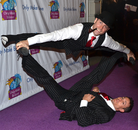 <p>The English Gents of <em>La Soirée</em> show off their skills on the purple carpet.</p><br />(© David Gordon)