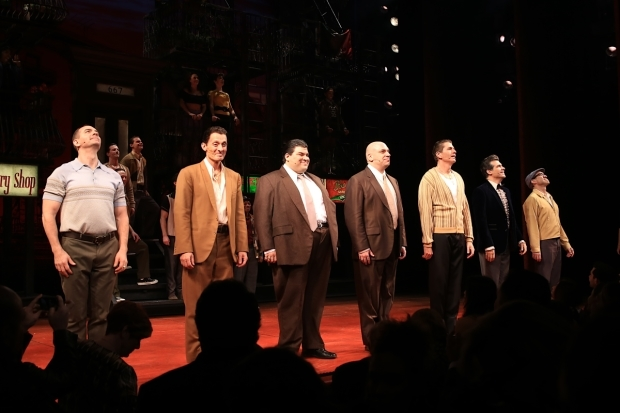 <p>The ensemble gets a standing ovation.</p><br />(© Tricia Baron)