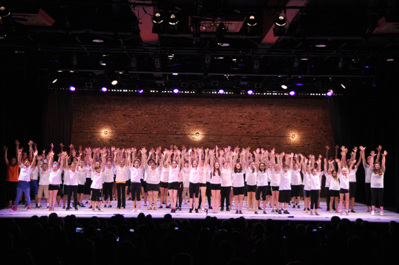 <p>The entire Camp Broadway cast performs together.</p><br />(© Genevieve Rafter Keddy)