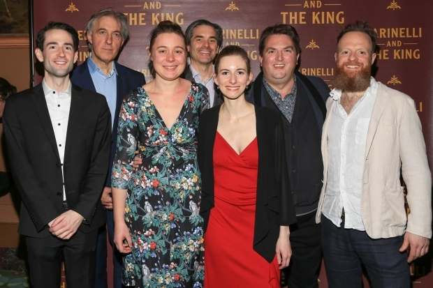 <p>The <em>Farinelli and the King</em> chamber orchestra gather for a photo.</p><br />(© Tricia Baron)
