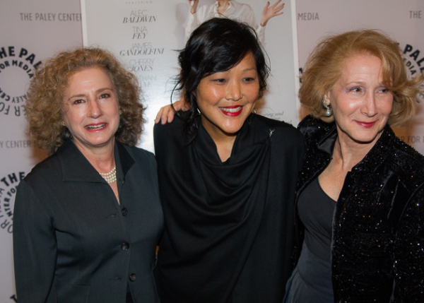 <p>The film&#39&#x3B;s producers Cheryl Wisenfeld (left) and Elizabeth Hemmerdinger (right) with director Chemi Karasawa.</p><br />(© Seth Walters)