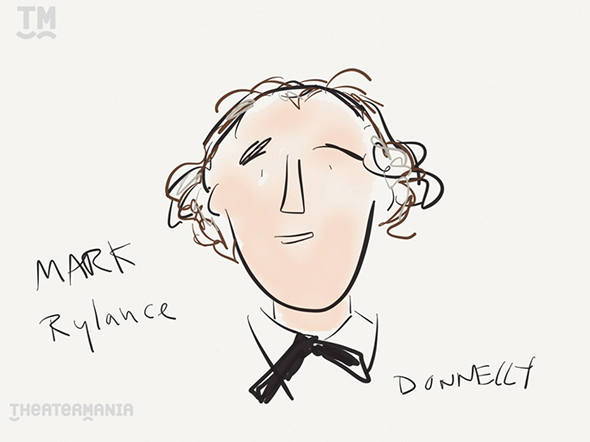 <p>The first performance winner of the evening, for Best Featured Actor in a Play, goes to <em>Twelfth Night</em>&#39&#x3B;s Mark Rylance. </p><br />(© Liza Donnelly)