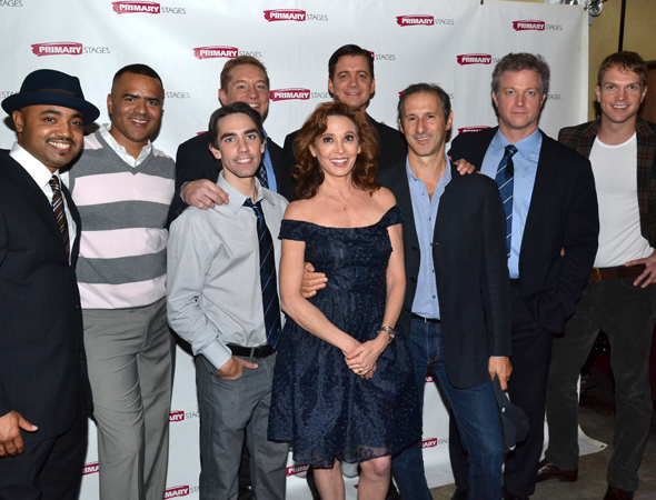 <p>The full cast of <em>Bronx Bombers</em>.</p><br />(© David Gordon)