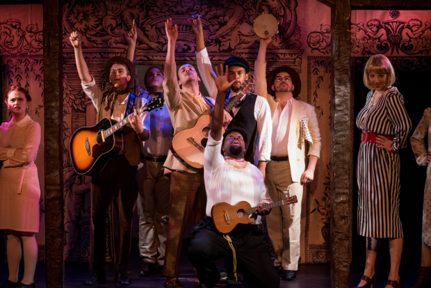 <p>Catch the full company of TP&amp&#x3B;co <em>The Two Gentlemen of Verona</em> at the Players Theatre.</p><br />(© Kelly Marsh)