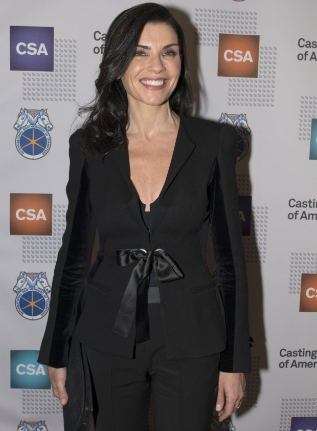 <p><em>The Good Wife</em> star Julianna Margulies is thrilled to cheer on her show&#39&#x3B;s creators.</p><br />(© Allison Stock)