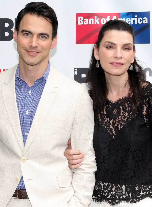 <p><em>The Good Wife</em>&#39&#x3B;s Julianna Margulies walks the red carpet with her husband, Keith Lieberthal.</p><br />(© David Gordon)