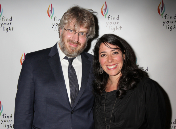 <p><em>The Great Comet</em>&#39&#x3B;s Dave Malloy and Rachel Chavkin showed up to support.</p><br />(© Henry McGee)