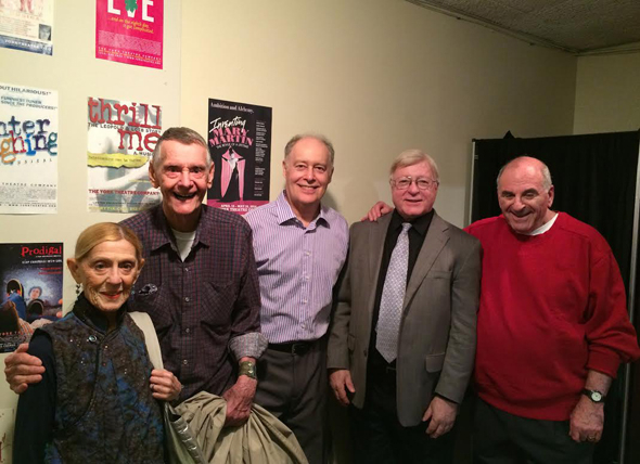 <p>The guest panel: Sondra Lee, Carleton Carpenter, John Sheridan, Ed Gaynes, and Robert Schear.</p><br />(photo courtesy York Theatre Company)