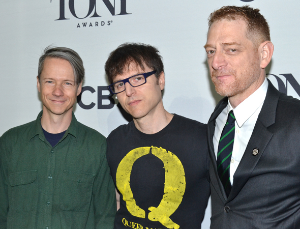 <p>The <em>Hedwig and the Angry Inch</em> team: authors John Cameron Mitchell and Stephen Trask, with producer David Binder.</p><br />(© David Gordon)