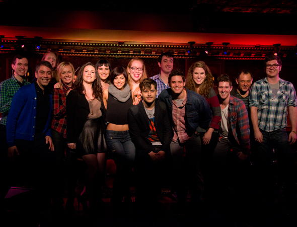 <p>The <em>Hit List</em> family, on stage at 54 Below.</p><br />(© David Gordon)