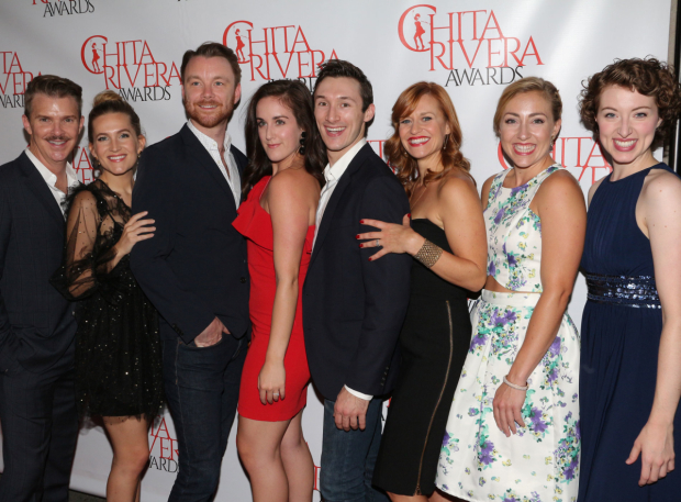 <p>The <em>Holiday Inn</em> family reunites at the Chita Rivera Awards.</p><br />(© David Gordon)