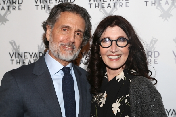 <p>The husband-and-wife team of Chris Sarandon and Joanna Gleason enjoying themselves.</p><br />(© Tricia Baron)