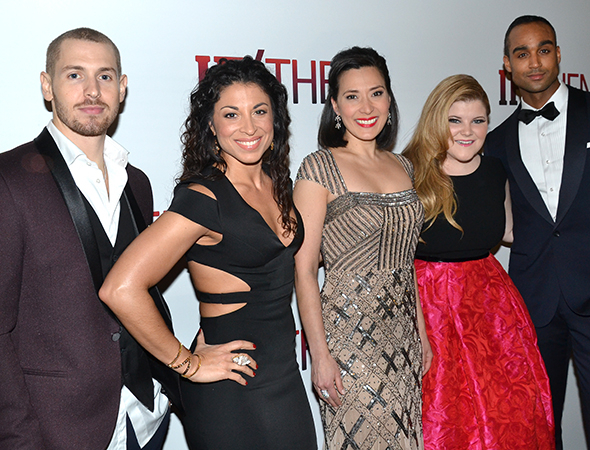 <p>The <em>If/Then</em> ensemble also includes Tyler McGee, Stephanie Klemons, Ann Sanders, Ryann Redmond, and Joe Aaron Reid.</p><br />(© David Gordon)