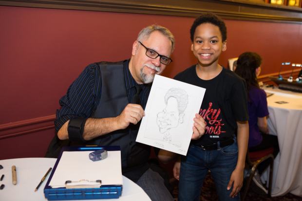 <p>The kids kept the tradition alive with caricatures at Sardi&#39&#x3B;s.</p><br />(© Jeremy Daniel)