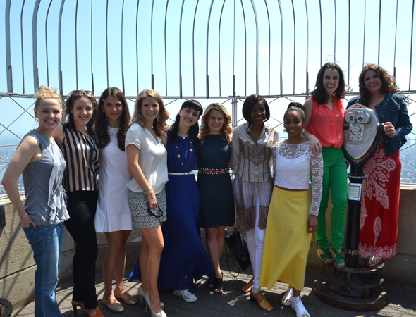 <p>From left: Anika Larsen, Jessie Mueller, Sutton Foster, Kelli O&#39&#x3B;Hara, Lena Hall, Celia Keenan-Bolger, Adriane Lenox, Anika Noni Rose, Lauren Worsham, and Mary Bridget Davies.</p><br />(© David Gordon)