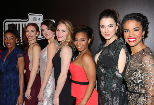 <p>The ladies of <em>Sunset Boulevard</em> look lovely on opening night.</p><br />(© David Gordon)
