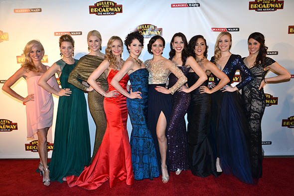 <p>The ladies of the <em>Bullets Over Broadway</em> ensemble show off their opening-night gowns.</p><br />(© David Gordon)