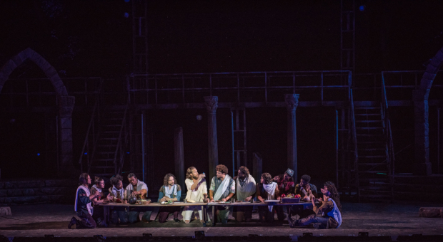 <p>The last supper in <em>Jesus Christ Superstar</em>.</p><br />(photo provided by the production)