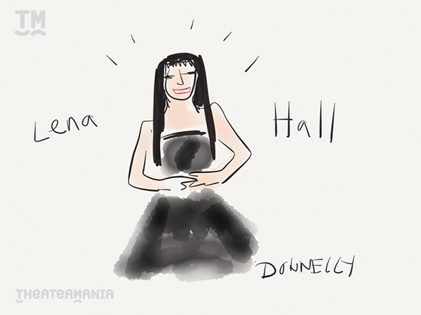 <p>The lovely and now Tony Award-winning Lena Hall of <em>Hedwig and the Angry Inch</em> gets pixelated by Liza Donnelly. </p><br />(© Liza Donnelly)