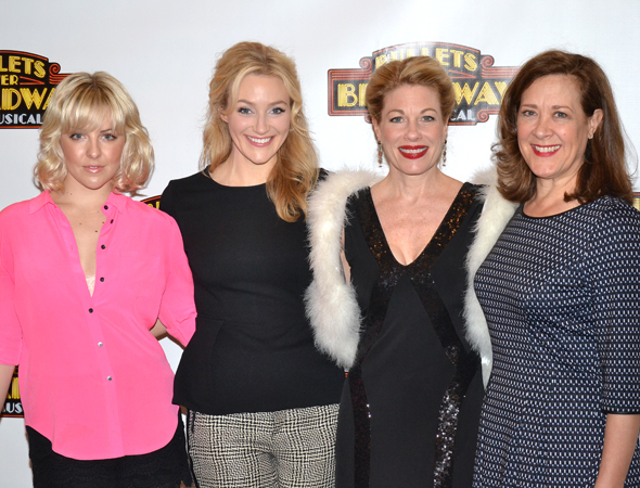<p>The lovely ladies of <em>Bullets Over Broadway</em>: Heléne Yorke, Betsy Wolfe, Marin Mazzie, and Karen Ziemba.</p><br />(© David Gordon)