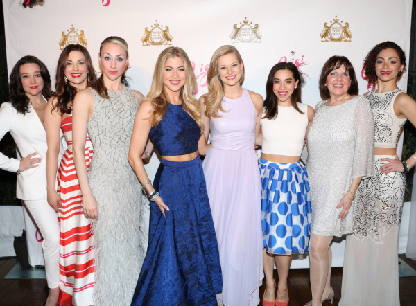 <p>The lovely ladies of <em>Gigi</em> show off their opening-night fashion choices.</p><br />(© David Gordon)