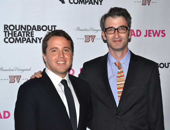 <p>The men of the hour: <em>Bad Jews</em> playwright Joshua Harmon and director Daniel Aukin.</p><br />(© David Gordon)