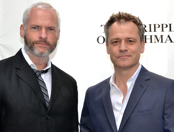 <p>The men of the hour: <em>Cripple of Inishmaan</em> playwright Martin McDonagh and director Michael Grandage.</p><br />(© David Gordon)