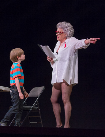 <p>The <em>Mothers and Sons</em> sketch featured Tyne Daly, who looked suspiciously like Elaine Stritch, and Grayson Taylor.</p><br />(© David Gordon)
