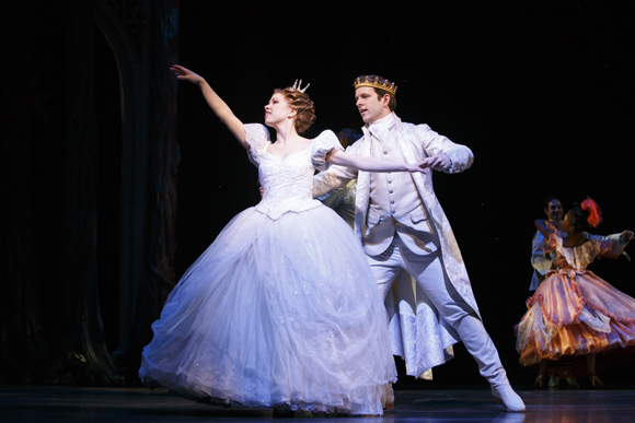 <p>The new prince and Cinderella dance together.</p><br />(© Carol Rosegg)