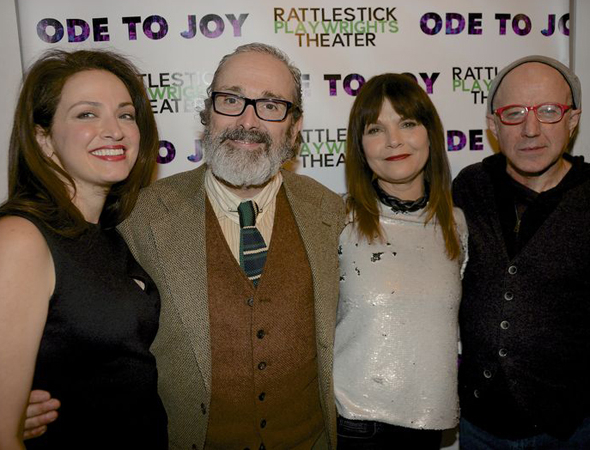<p>The <em>Ode to Joy</em> family: Roxanna Hope, Craig Lucas, Kathryn Erbe, and Arliss Howard.</p><br />(© Nessie Nankivell)