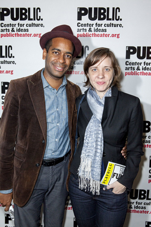 <p>The opening is date night for actor Daniel Breaker and his wife, director Kate Whoriskey.</p><br />(© David Neff)