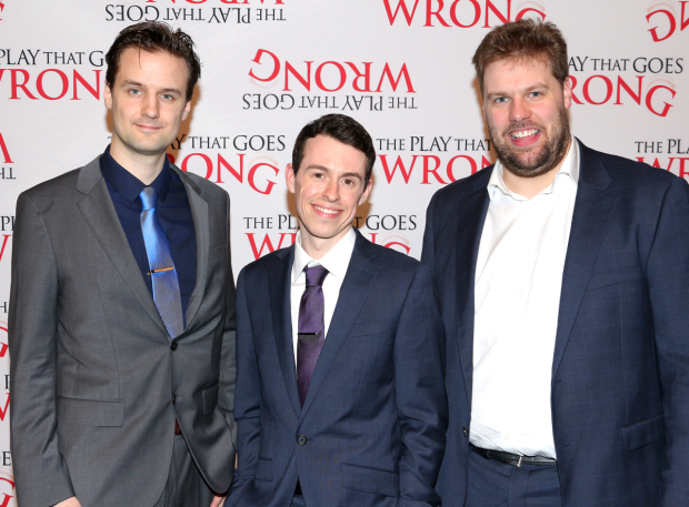<p><em>The Play That Goes Wrong</em> is created by Henry Shields, Jonathan Sayer, and Henry Lewis.</p><br />(© David Gordon)