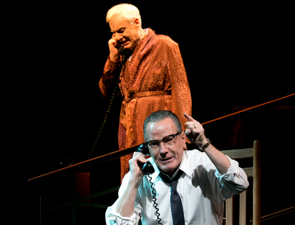 <p>The President (Cranston) takes a phone call from Sen. Richard Russell (John McMartin).</p><br />(© Evgenia Eliseeva)