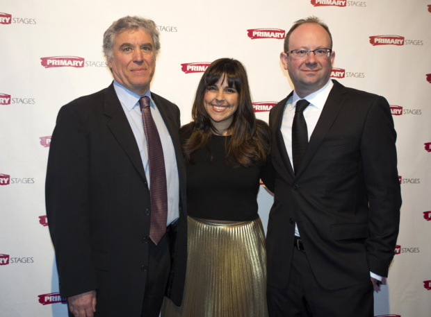<p>The Primary Stages family: executive producer Casey Childs, associate artistic director Michelle Bossy, and artistic director Andrew Leynse.</p><br />(© Allison Stock)