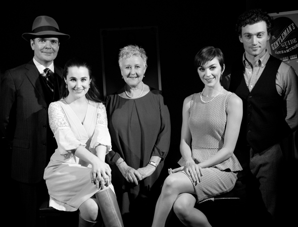 <p>The principal company: Jefferson Mays, Lauren Worsham, Jane Carr, Lisa O&#39&#x3B;Hare, and Bryce Pinkham.</p><br />(© David Gordon)